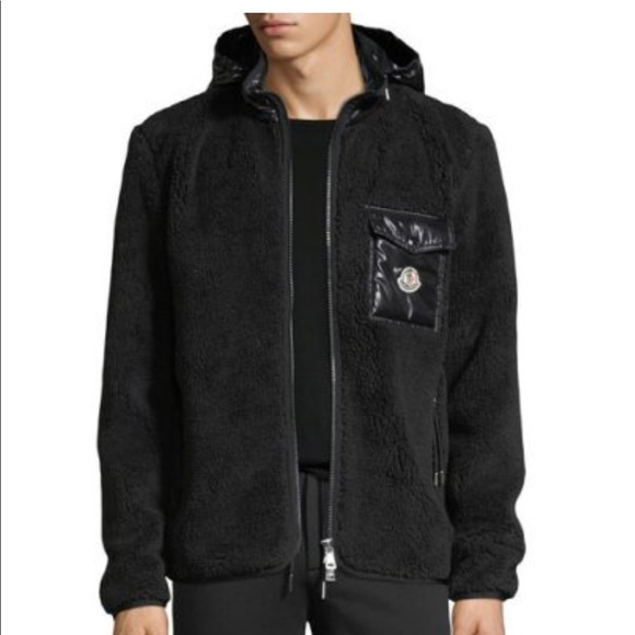 NWT Men's Moncler Contrast Mixed Media Jacket